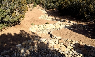 Zuni bowls and rock channels prevent erosion