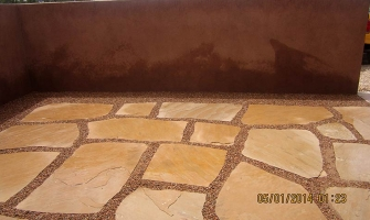 Another style of flagstone patio with gravel
