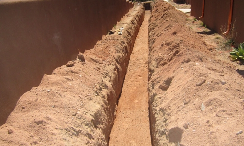 Pumice wick trench